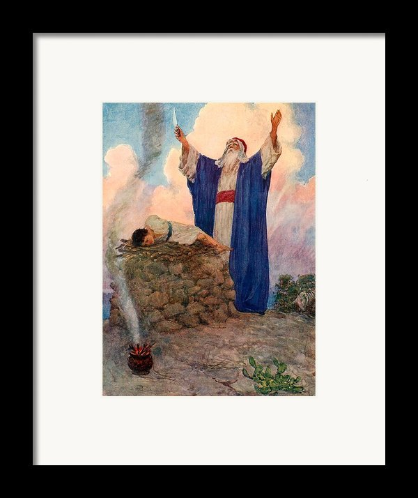 Abraham And Isaac On Mount Moriah Framed Print By William Henry Margetson