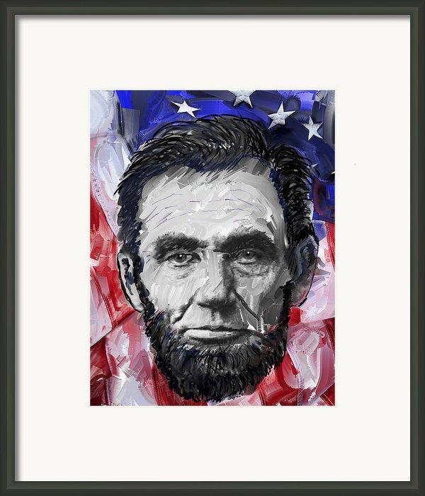Abraham Lincoln - 16th U S President Framed Print By Daniel Hagerman