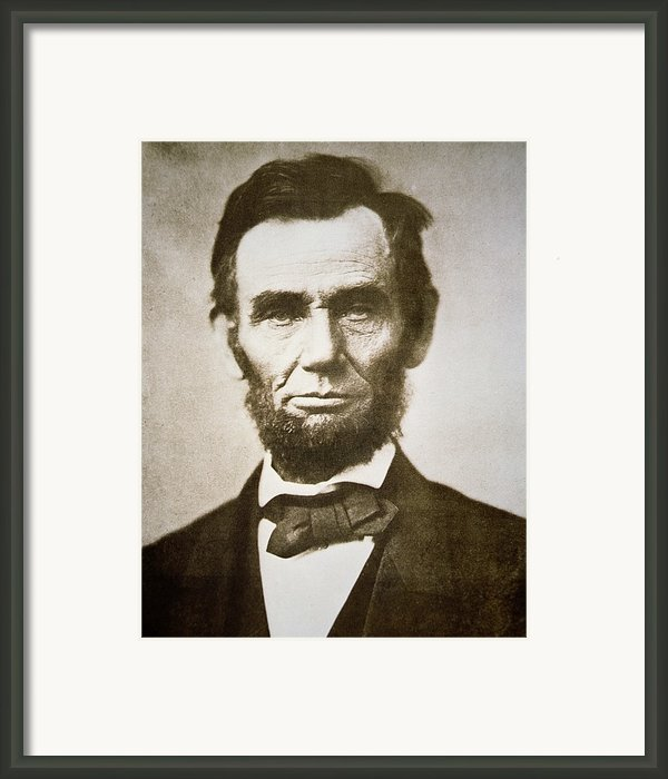 Abraham Lincoln Framed Print By Alexander Gardner