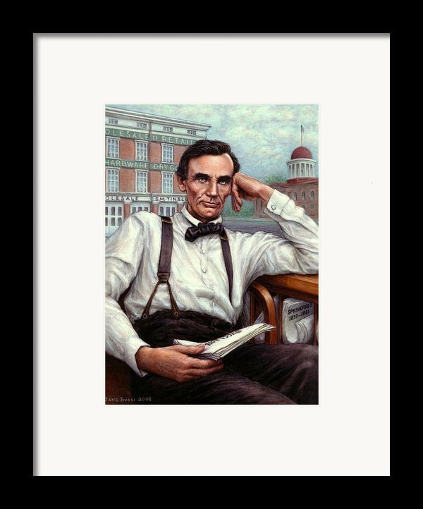 Abraham Lincoln Of Springfield Bicentennial Portrait Framed Print By Jane Bucci