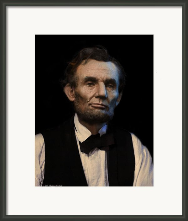 Abraham Lincoln Portrait Framed Print By Ray Downing