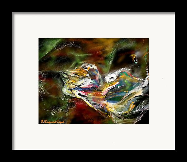 Abstract 2 Framed Print By Francoise Dugourd-caput