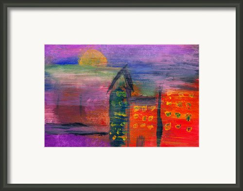 Abstract - Acrylic - Lost In The City Framed Print By Mike Savad