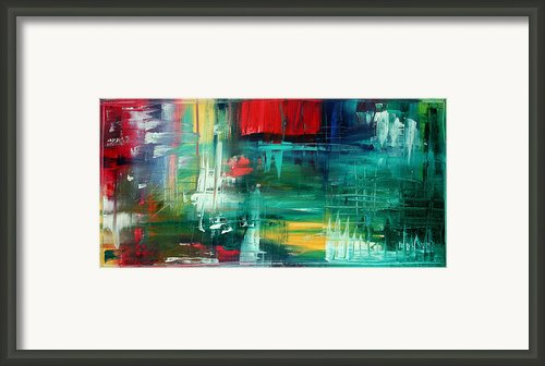 Abstract Art Colorful Original Painting Bold And Beautiful By Madart Framed Print By Megan Duncanson