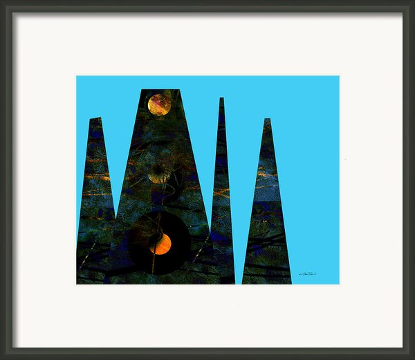 Abstract - Art- Mystical Moons  Framed Print By Ann Powell