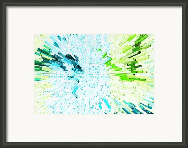 Abstract - Be Happy Framed Print By Natalie Kinnear