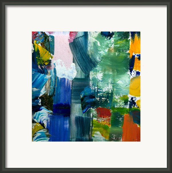 Abstract Color Relationships Lll Framed Print By Michelle Calkins
