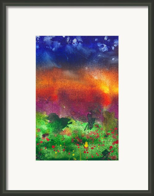 Abstract - Crayon - Utopia Framed Print By Mike Savad
