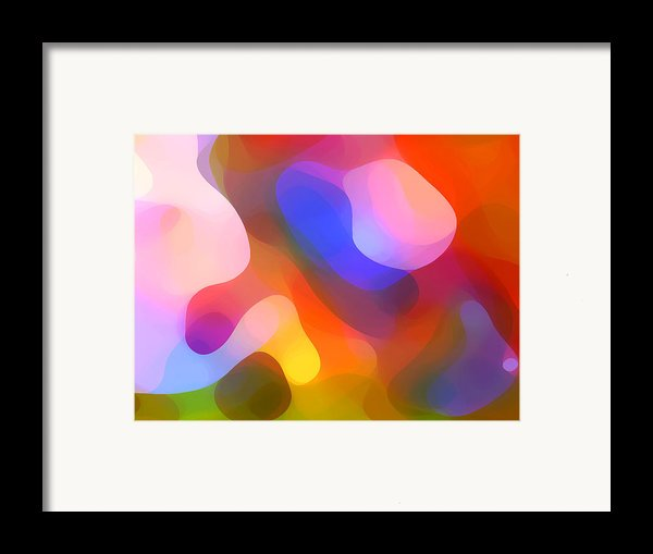 Abstract Dappled Sunlight Framed Print By Amy Vangsgard