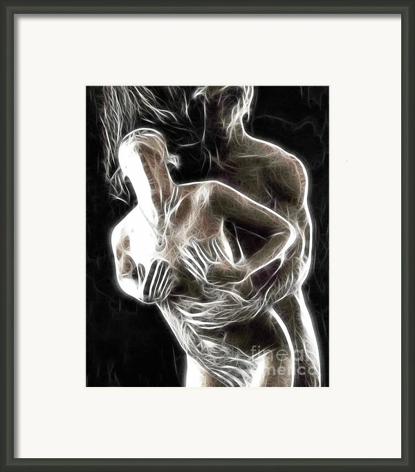 Abstract Digital Artwork Of A Couple Making Love Framed Print By Oleksiy Maksymenko