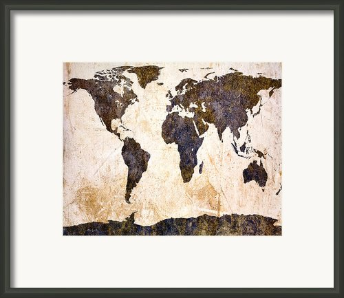 Abstract Earth Map Framed Print By Bob Orsillo