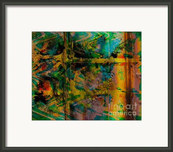 Abstract - Emotion - Facade Framed Print By Barbara Griffin