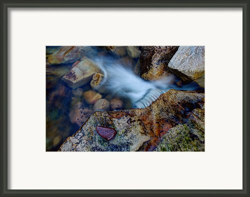 Abstract Falls Framed Print By Chad Dutson