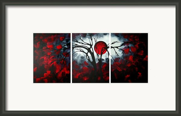 Abstract Gothic Art Original Landscape Painting Imagine By Madart Framed Print By Megan Duncanson