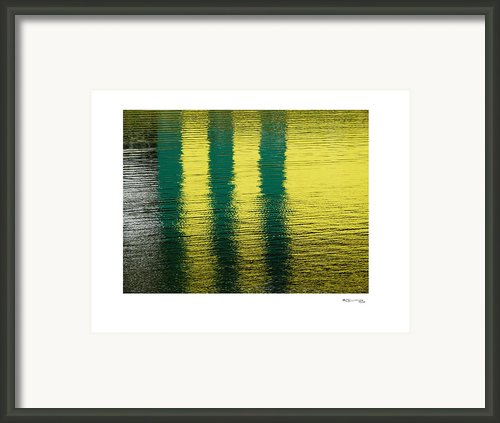 Abstract Lake Reflections 2 Framed Print By Xoanxo Cespon