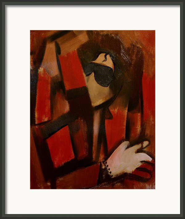 Abstract Michael Jackson Thriller Cubism Painting Framed Print By Tommervik