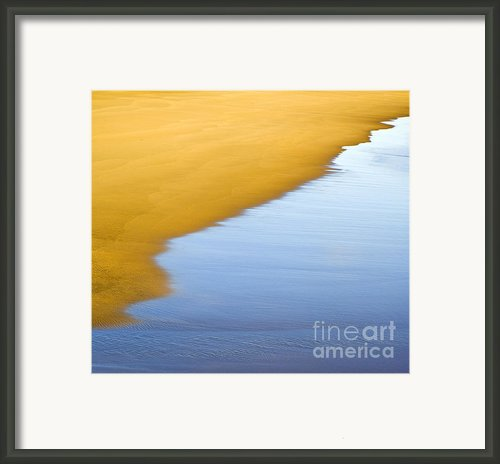 Abstract Seascape Framed Print By Frank Tschakert