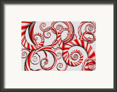 Abstract - Spirals - Peppermint Dreams Framed Print By Mike Savad