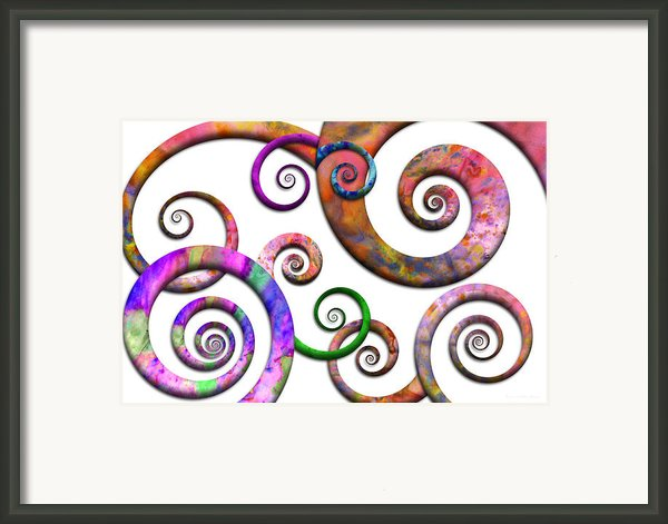 Abstract - Spirals - Planet X Framed Print By Mike Savad
