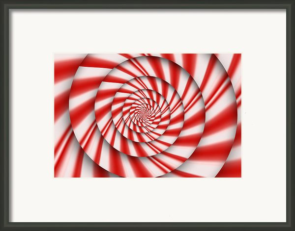Abstract - Spirals - The Power Of Mint Framed Print By Mike Savad
