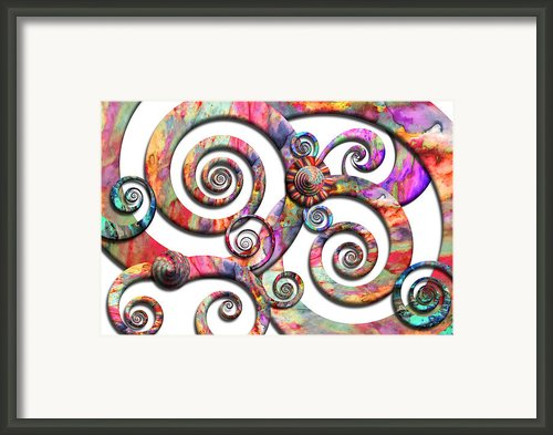 Abstract - Spirals - Wonderland Framed Print By Mike Savad