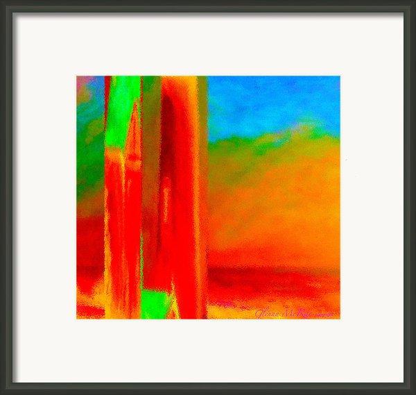 Abstract Splendor Ii Framed Print By Glenna Mcrae