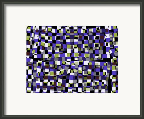 Abstract Squares Illustration As Design Element Framed Print By Steven Jones