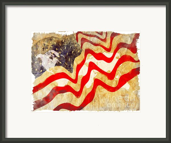 Abstract Usa Flag Framed Print By Stefano Senise