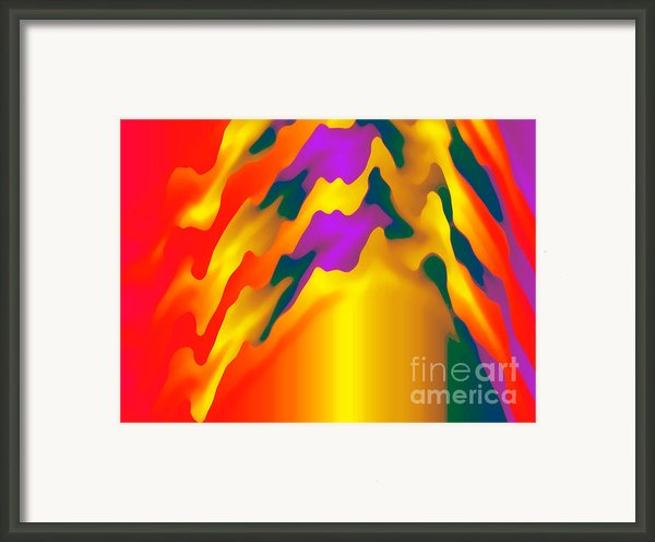 Abstract Wonder 2 Framed Print By Gayle Price Thomas