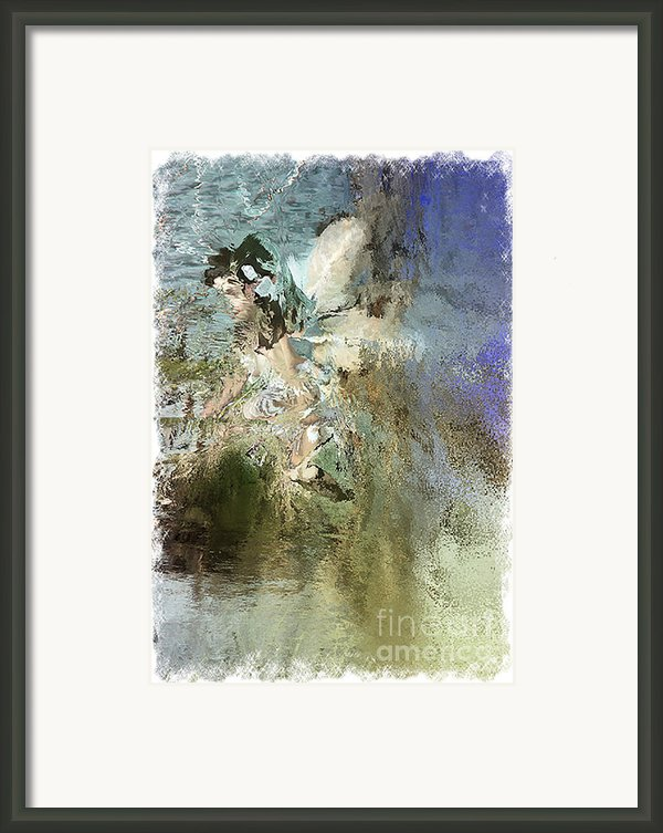 Abstracted Water Nymph Framed Print By Andrew Govan Dantzler