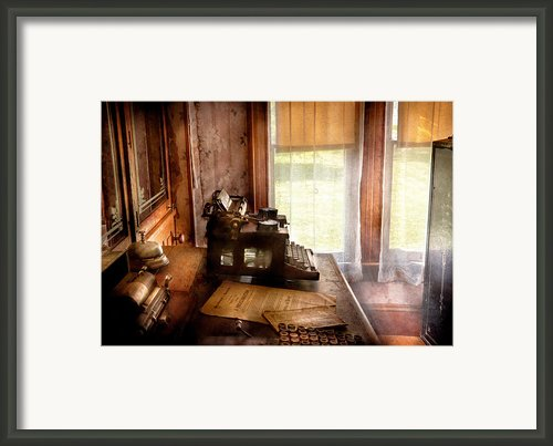 Accountant - My Little Office  Framed Print By Mike Savad
