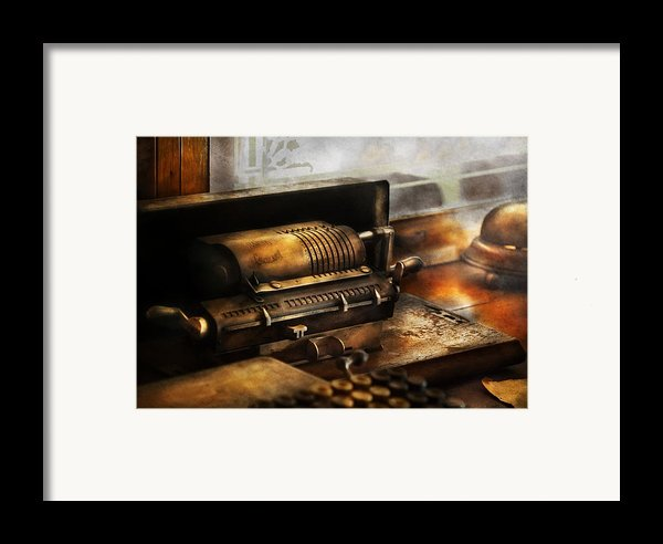 Accountant - The Adding Machine Framed Print By Mike Savad