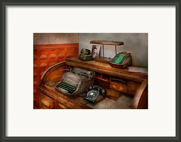 Accountant - Typewriter - The Accountants Office Framed Print By Mike Savad