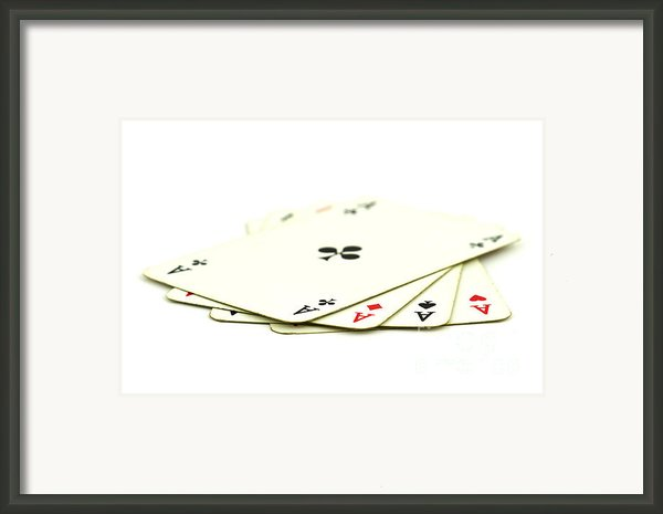 Aces Framed Print By Blink Images
