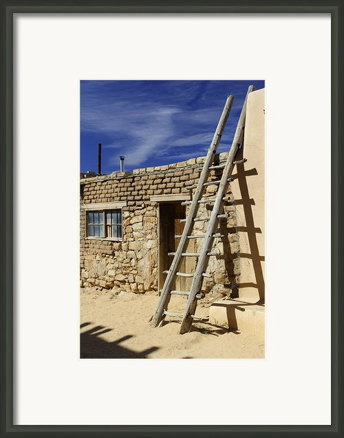 Acoma Pueblo Adobe Homes 4 Framed Print By Mike Mcglothlen