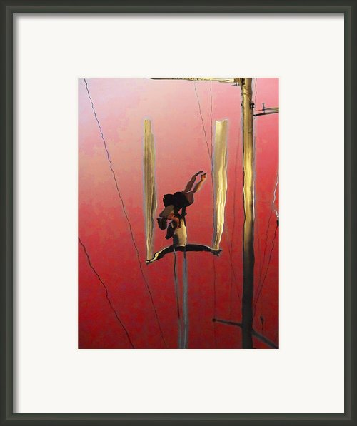 Acrobatic Aerial Artistry1 Framed Print By Anne Mott