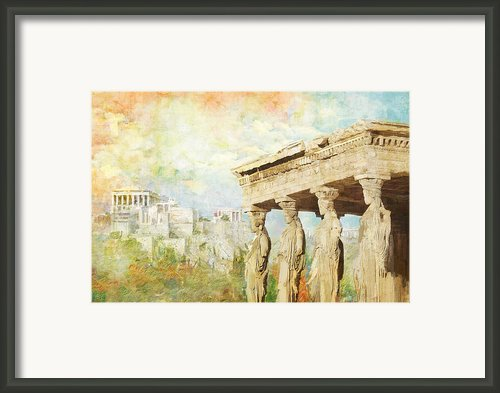 Acropolis Of Athens Framed Print By Catf