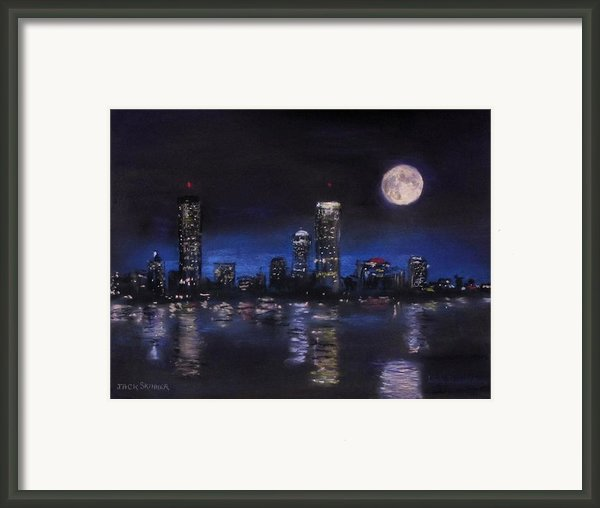 Across The Charles At Night Framed Print By Jack Skinner