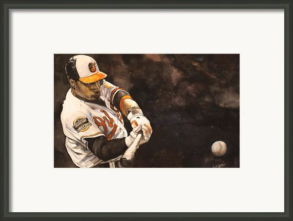 Adam Jones Framed Print By Michael  Pattison