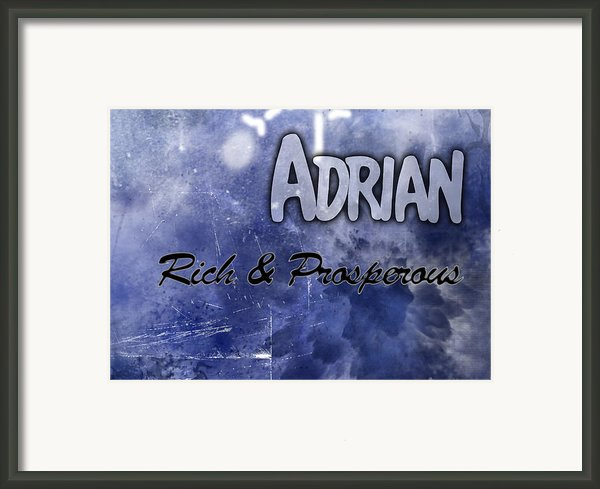 Adrian - Rich And Prosperous Framed Print By Christopher Gaston