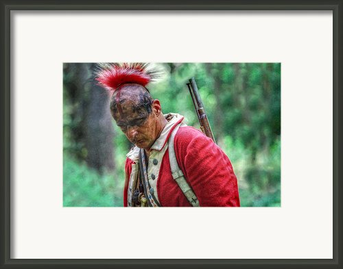 After The Fight  Indian Warrior Framed Print By Randy Steele