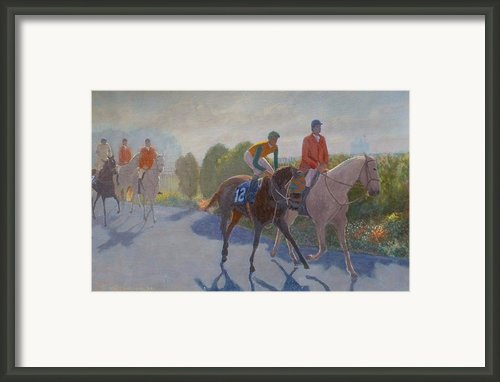 After The Race Framed Print By Terry Perham