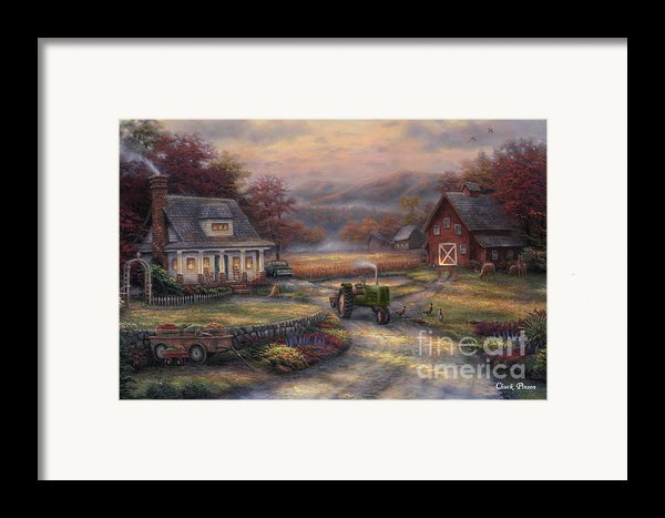 Afternoon Harvest Framed Print By Chuck Pinson