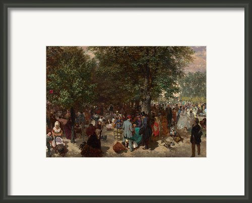 Afternoon In The Tuileries Gardens Framed Print By Adolph Friedrich Erdmann Von Menzel