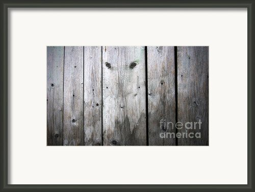 Aged Wood Boards Framed Print By Jolanta Prunskaite