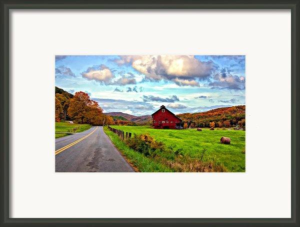 Ah...west Virginia Painted Framed Print By Steve Harrington