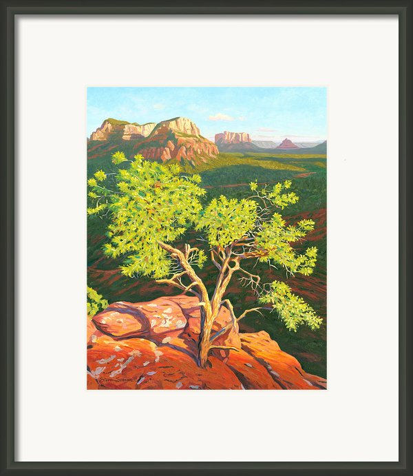 Airport Mesa Vortex - Sedona Framed Print By Steve Simon