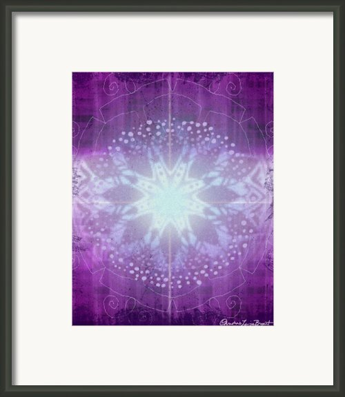 Ajna - Chakra 6 Framed Print By Christine Louise Bryant