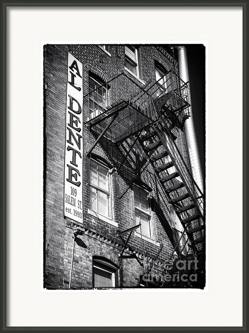 Al Dente Framed Print By John Rizzuto