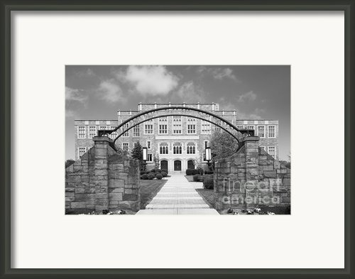 Albany Law School Gate Framed Print By University Icons